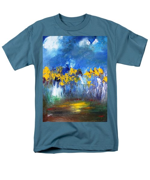 Flowers Of Maze In Blue Men's T-Shirt  (Regular Fit) by Gary Smith