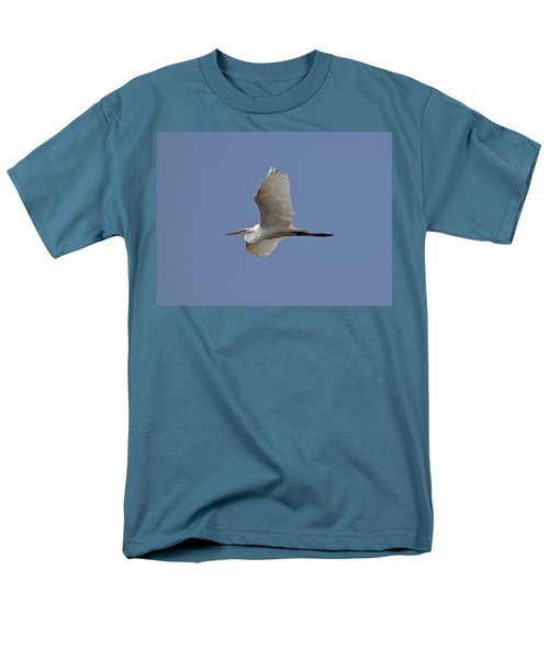 Men's T-Shirt  (Regular Fit) featuring the photograph Flying Egret by Jeannette Hunt