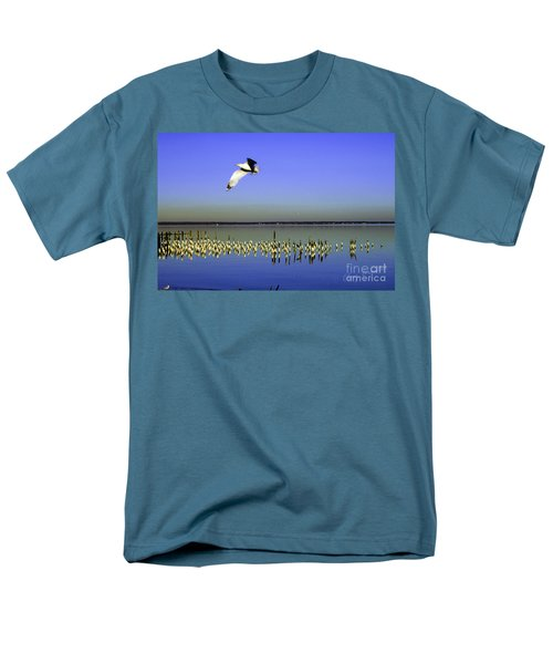 Men's T-Shirt  (Regular Fit) featuring the photograph Flying Solo by Clayton Bruster