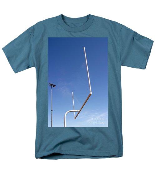 Men's T-Shirt  (Regular Fit) featuring the photograph Football Goal by Henrik Lehnerer