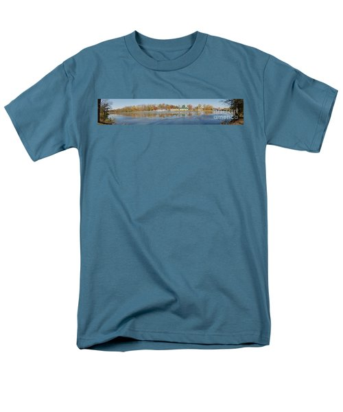 Men's T-Shirt  (Regular Fit) featuring the photograph Genesee River Panorama by William Norton