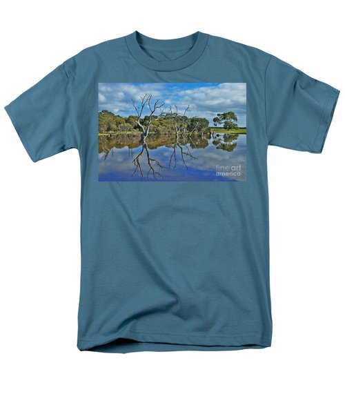 Men's T-Shirt  (Regular Fit) featuring the photograph Glass Lake by Stephen Mitchell