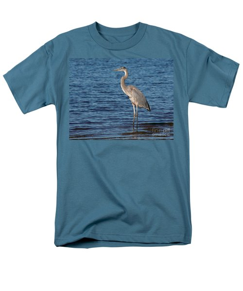 Men's T-Shirt  (Regular Fit) featuring the photograph Great Blue Heron by Art Whitton