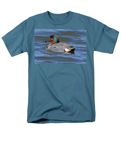 Green Winged Teal Men's T-Shirt  (Regular Fit) by Joe Faherty