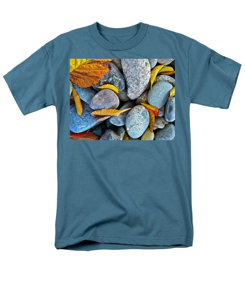 Men's T-Shirt  (Regular Fit) featuring the photograph Leaves And Rocks by Bill Owen
