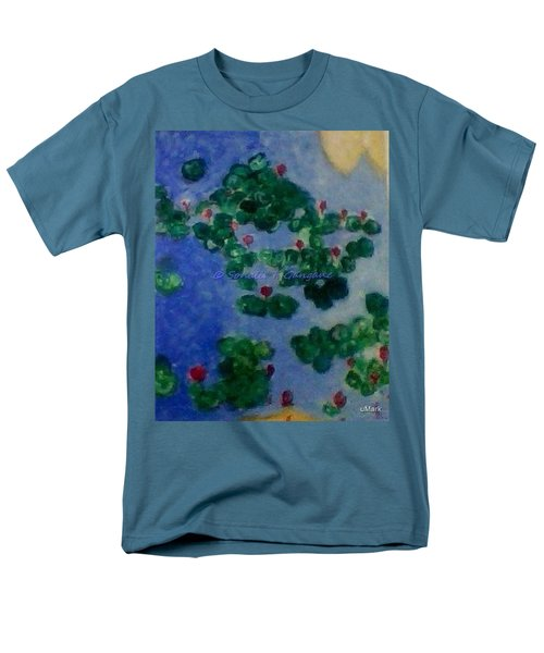 Men's T-Shirt  (Regular Fit) featuring the painting Lily Pond by Sonali Gangane