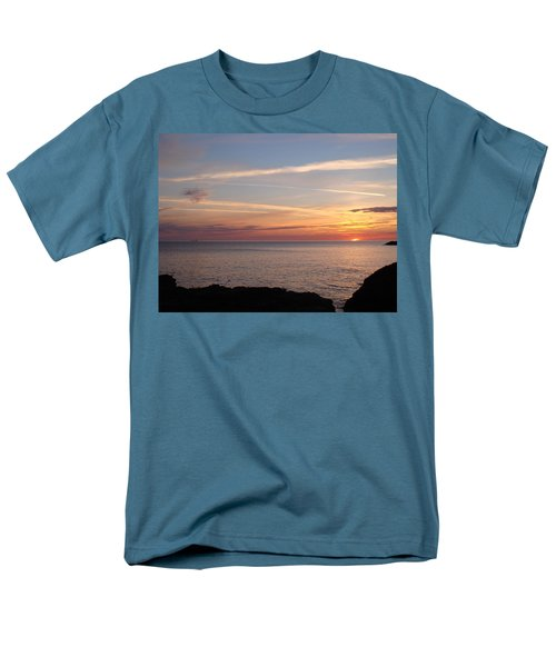 Men's T-Shirt  (Regular Fit) featuring the photograph Lone Freighter On Up by Bonfire Photography