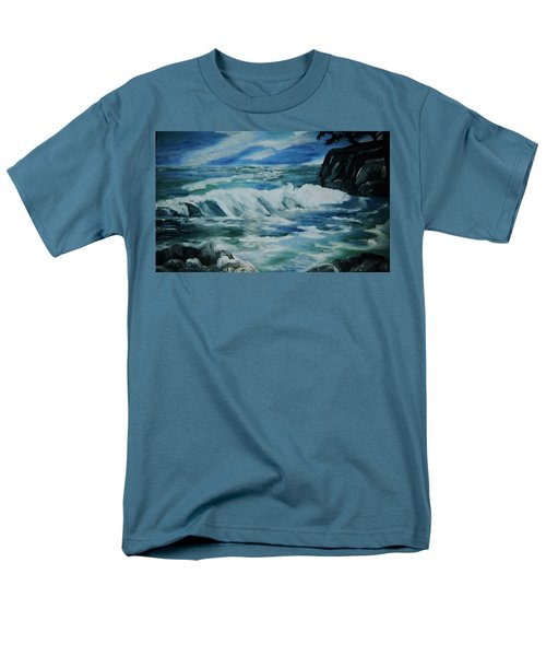 Men's T-Shirt  (Regular Fit) featuring the painting Ocean Waves by Christy Saunders Church