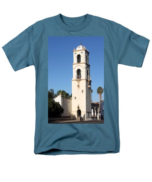 Ojai Post Office Tower Men's T-Shirt  (Regular Fit) by Henrik Lehnerer