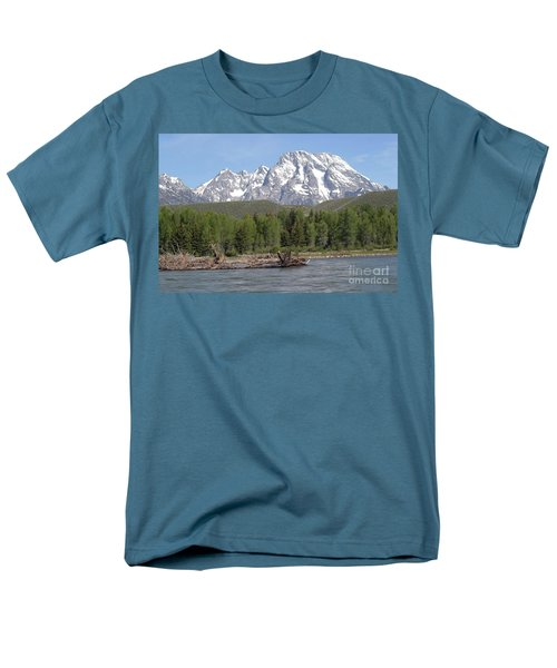 Men's T-Shirt  (Regular Fit) featuring the photograph On The Snake River by Living Color Photography Lorraine Lynch