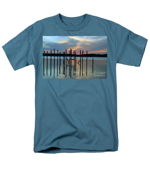 Men's T-Shirt  (Regular Fit) featuring the photograph Pelican Resting End Of Day by Dan Friend