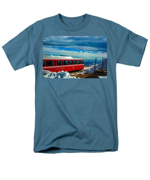 Men's T-Shirt  (Regular Fit) featuring the photograph Pikes Peak Railway by Shannon Harrington