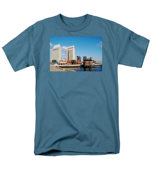 Men's T-Shirt  (Regular Fit) featuring the photograph San Diego - Seaport Village by Jasna Gopic