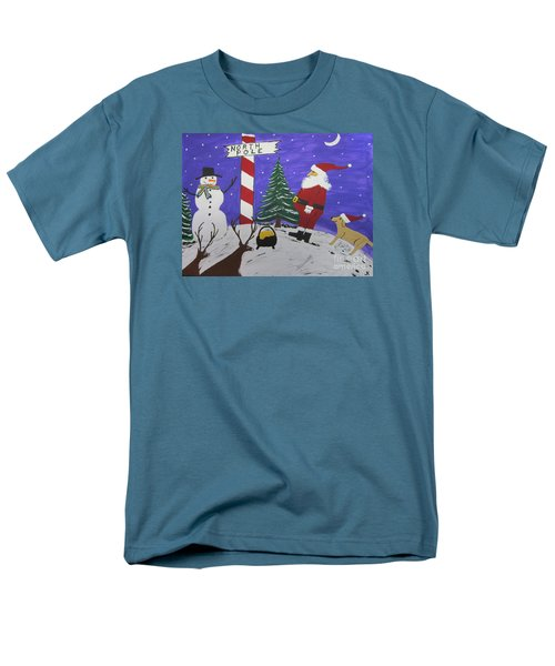 Men's T-Shirt  (Regular Fit) featuring the painting Santa Finds Pot Of Gold by Jeffrey Koss