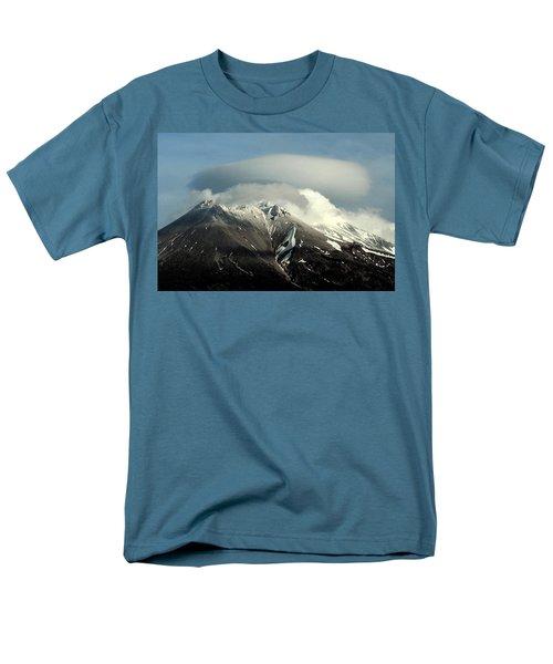 Men's T-Shirt  (Regular Fit) featuring the digital art Shasta Lenticular 2 by Holly Ethan