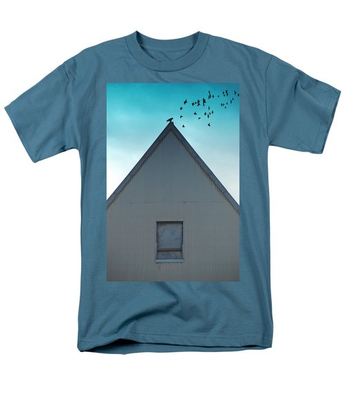 Men's T-Shirt  (Regular Fit) featuring the photograph Sitting On The Peak by Kathleen Grace