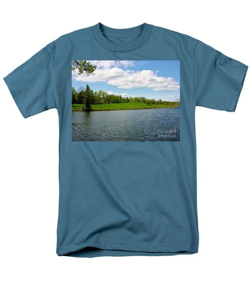 Men's T-Shirt  (Regular Fit) featuring the photograph Sky And Water Almost Meet by Sherman Perry