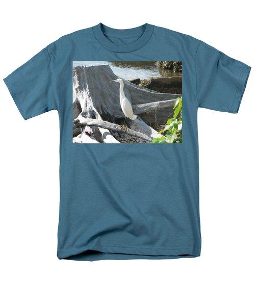 Men's T-Shirt  (Regular Fit) featuring the photograph Snowy Egret by Laurel Best