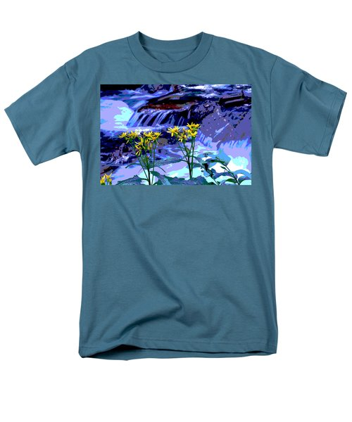 Stream And Flowers Men's T-Shirt  (Regular Fit) by Zawhaus Photography