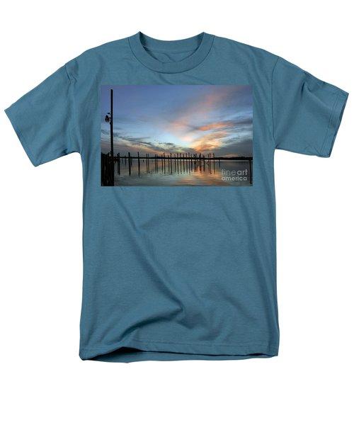 Men's T-Shirt  (Regular Fit) featuring the photograph sunset marina Everglades by Dan Friend