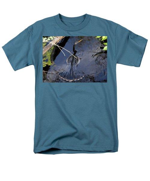 Swimming Bird Men's T-Shirt  (Regular Fit) by David Lee Thompson