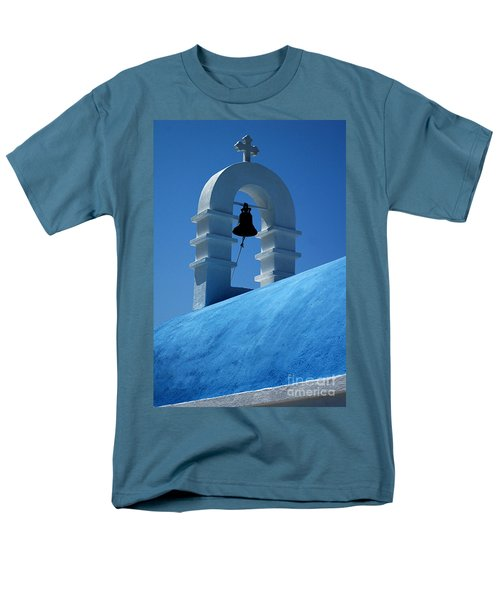 Men's T-Shirt  (Regular Fit) featuring the photograph The Bell Tower In Mykonos by Vivian Christopher