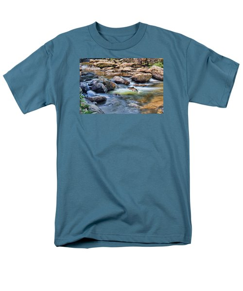 Men's T-Shirt  (Regular Fit) featuring the digital art Trout Stream by Mary Almond
