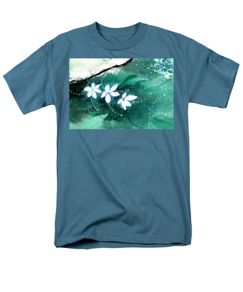 White Flowers Men's T-Shirt  (Regular Fit) by Anil Nene