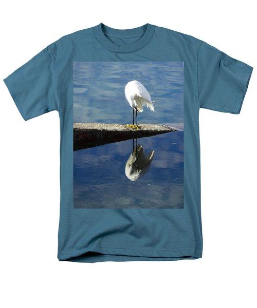 Men's T-Shirt  (Regular Fit) featuring the digital art White Heron by Anne Mott