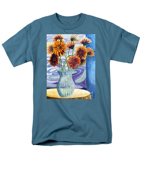 01305 Orange African Daisies Men's T-Shirt  (Regular Fit) by AnneKarin Glass