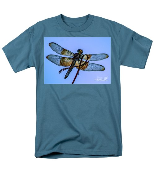 Blue Dragonfly Men's T-Shirt  (Regular Fit) by Toma Caul