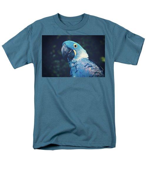 Blue Hyacinth Macaw Men's T-Shirt  (Regular Fit) by Sharon Mau