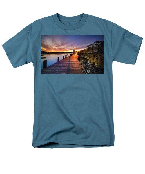 Cape Porpoise Men's T-Shirt  (Regular Fit) by Robert Clifford