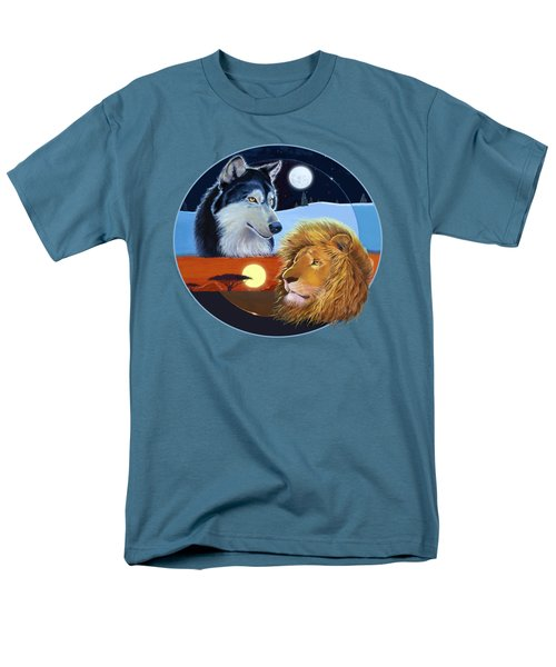 Men's T-Shirt  (Regular Fit) featuring the mixed media Celestial Kings Circular by J L Meadows
