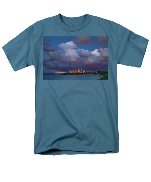 Men's T-Shirt  (Regular Fit) featuring the photograph Cleveland Skyline  by Emmanuel Panagiotakis