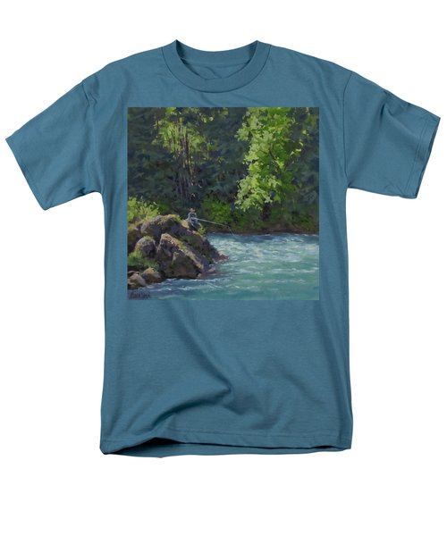 Men's T-Shirt  (Regular Fit) featuring the painting Favorite Spot by Karen Ilari