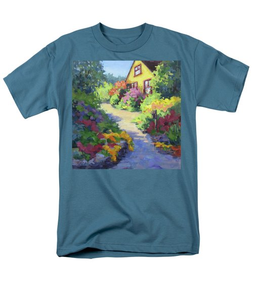 Garden Path Men's T-Shirt  (Regular Fit) by Karen Ilari