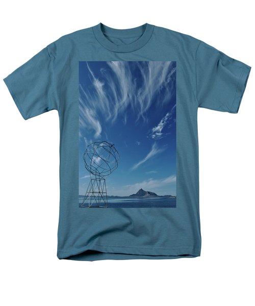 Globe Symbol View  On Sky Background In Norway Men's T-Shirt  (Regular Fit) by Tamara Sushko