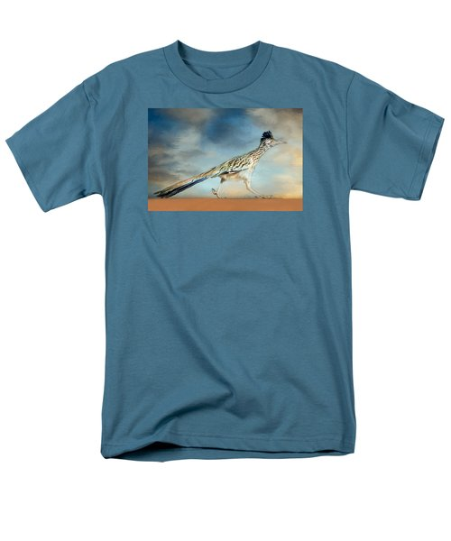 Men's T-Shirt  (Regular Fit) featuring the painting Greater Roadrunner by Barbara Manis