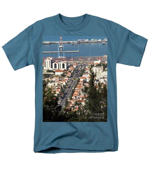 Men's T-Shirt  (Regular Fit) featuring the photograph Haifa - The German Colony by Arik Baltinester