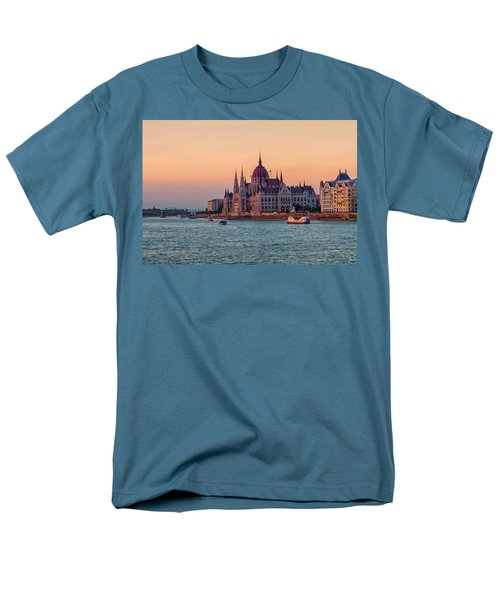 Hungarian Parliament Building In Budapest, Hungary Men's T-Shirt  (Regular Fit) by Elenarts - Elena Duvernay photo