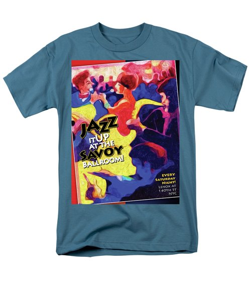 Men's T-Shirt  (Regular Fit) featuring the digital art Jazz It Up by Ted Azriel