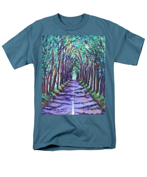 Men's T-Shirt  (Regular Fit) featuring the painting Kauai Tree Tunnel by Marionette Taboniar