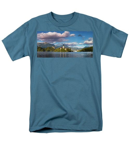 Men's T-Shirt  (Regular Fit) featuring the photograph Lake Bled Panoramic by Brian Jannsen
