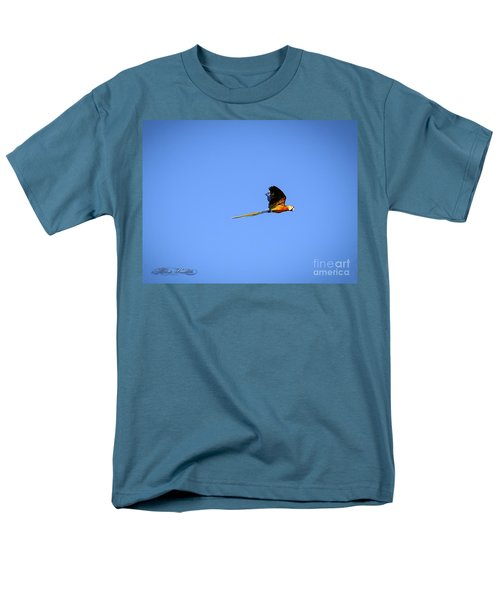 Macaw In Flight Men's T-Shirt  (Regular Fit) by Melissa Messick