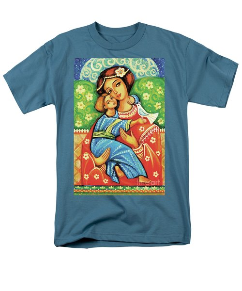 Men's T-Shirt  (Regular Fit) featuring the painting Madonna And Child by Eva Campbell