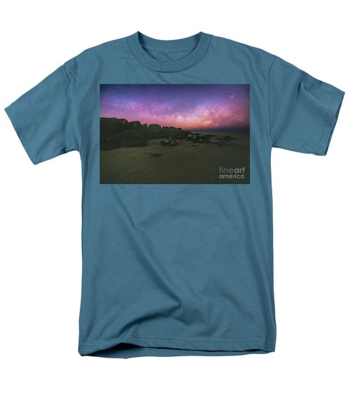 Milky Way Beach Men's T-Shirt  (Regular Fit) by Robert Loe