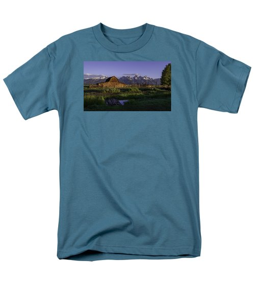 Moulton Barn At Dawn Men's T-Shirt  (Regular Fit) by Mary Angelini