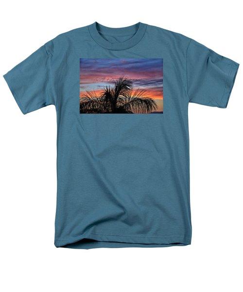 Men's T-Shirt  (Regular Fit) featuring the photograph Palm Tree Sunrise by Nikki McInnes
