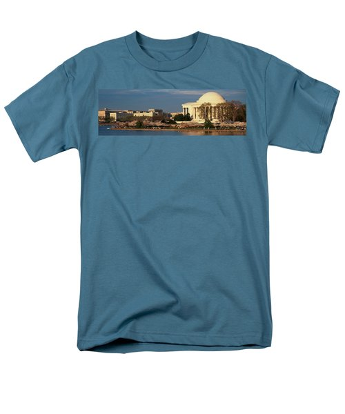 Panoramic View Of Jefferson Memorial Men's T-Shirt  (Regular Fit) by Panoramic Images